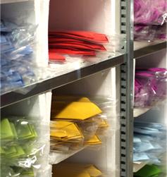 voorraad collectie stropdassen
