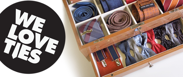 We Love Ties wooden tie-case