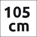 Tresanti cognac leren riem - 105cm