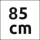 Tresanti riem bruin suede - 85cm