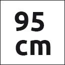 Tresanti riem groen suede - 95cm