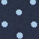 Bretels blauw met lichtblauwe polkadots