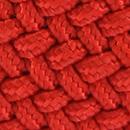 Gevlochten riem vermiljoen rood