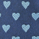 Mini stropdas sleutelhanger hartjes blauw