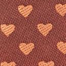 Mini stropdas sleutelhanger hartjes roest