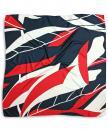 Sjaal patroon navy rood
