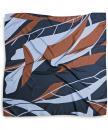 Sjaal patroon navy roest