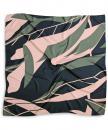 Sjaal patroon groen roze