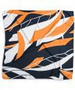 Sjaal patroon oranje wit