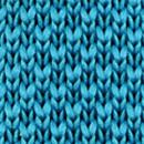 Stropdas gebreid cyaan blauw