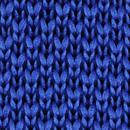 Stropdas gebreid kobaltblauw