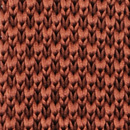 Sir Redman gebreide stropdas roestbruin