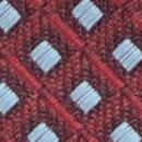 Stropdas patroon aubergine lichtblauw