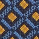 Stropdas patroon denimblauw oker