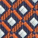 Stropdas patroon oranje wit