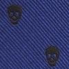 Mini stropdas sleutelhanger skulls blauw