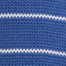 Stropdas gebreid blauw gestreept