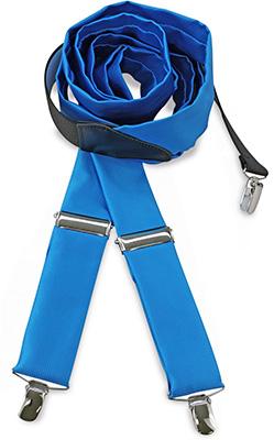 Bretels stropdassenstof process blue