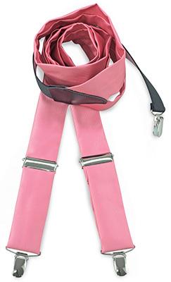 Bretels stropdassenstof roze