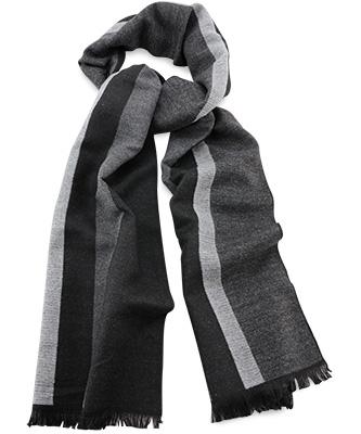 Herensjaal strepen grijs
