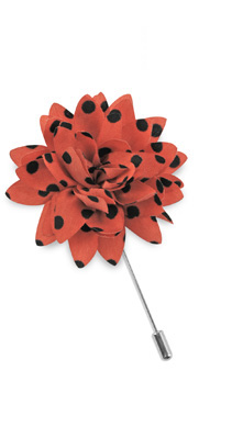 Revers pin dahlia dots