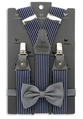 Sir Redman bretels combi pack Striped Gent grijs