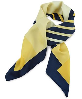 Sjaal geel / blauw / wit