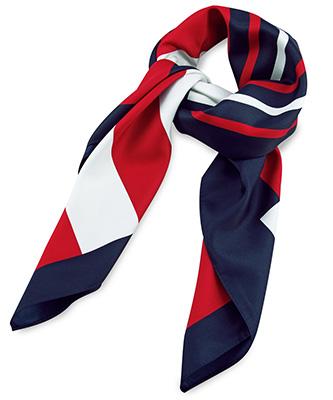 Sjaal rood / wit / blauw
