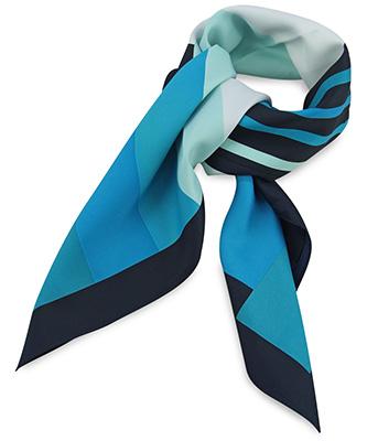 Sjaal turquoise gestreept