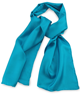 Sjaal turquoise uni