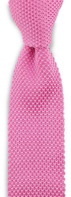 Stropdas gebreid zijde roze
