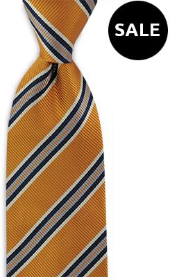 Stropdas oranje streep