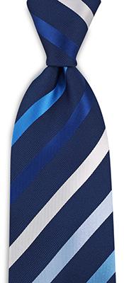 Stropdas blauw gestreept