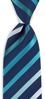 Stropdas turquoise gestreept