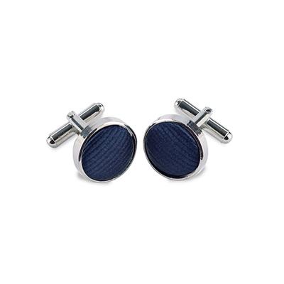 Manchetknopen zijde marineblauw