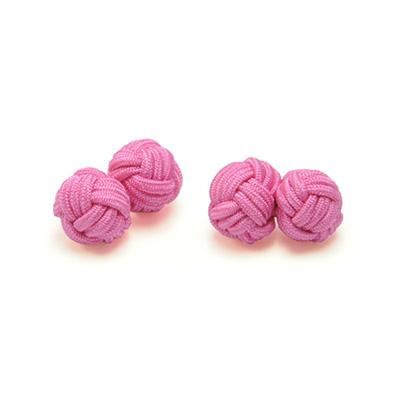 Manchetknopen stof roze