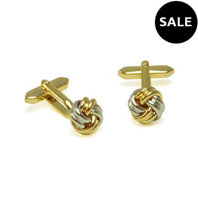 Manchetknopen Knot zilver-goud